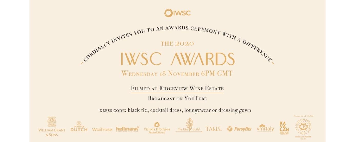 IWSC 2020 awards ceremony invitation