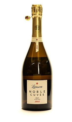 Bottle of Lanson 2012 champagne