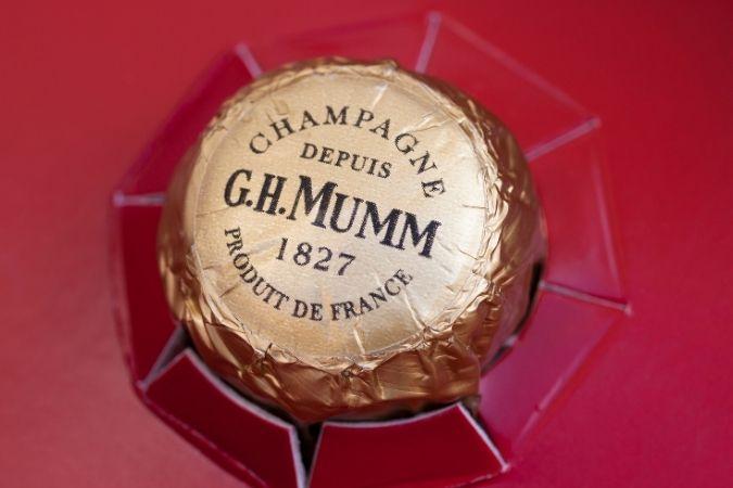 Mumm champagne foil