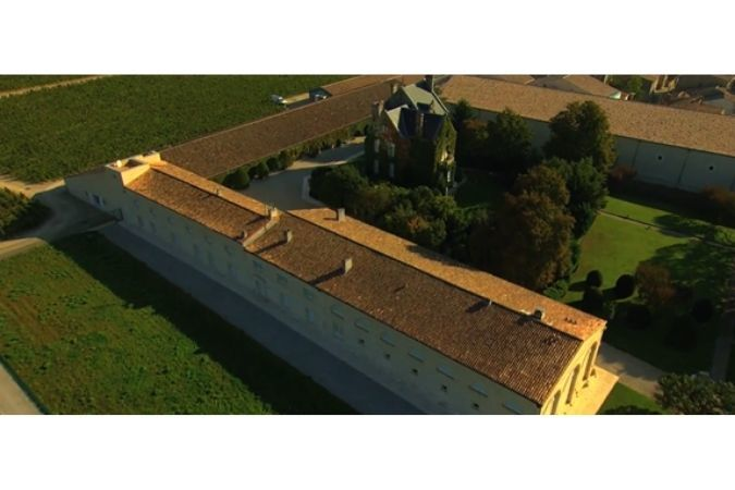 Aerial photo of Chateau Mouton Rothschild today