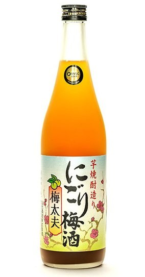 a bottle of Nigori Umeshu