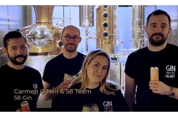 The 58 Gin team at their distillery
