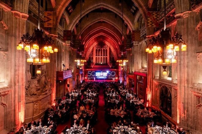 A full great hall at IWSC 2019 Banquet