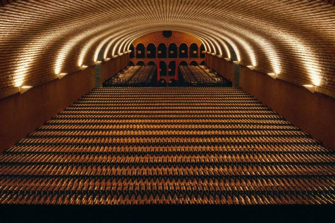 Bottle maturation cellar of Bodegas Campillo, Laguardia, Alava, Spain. [Rioja Alavesa]
