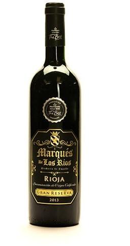 Bottle of Morrisons The Best Marques de los Rios Rioja Gran Reserva 2013