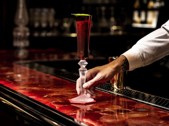 'The Arrival' cocktail at Harrods' Baccarat Bar