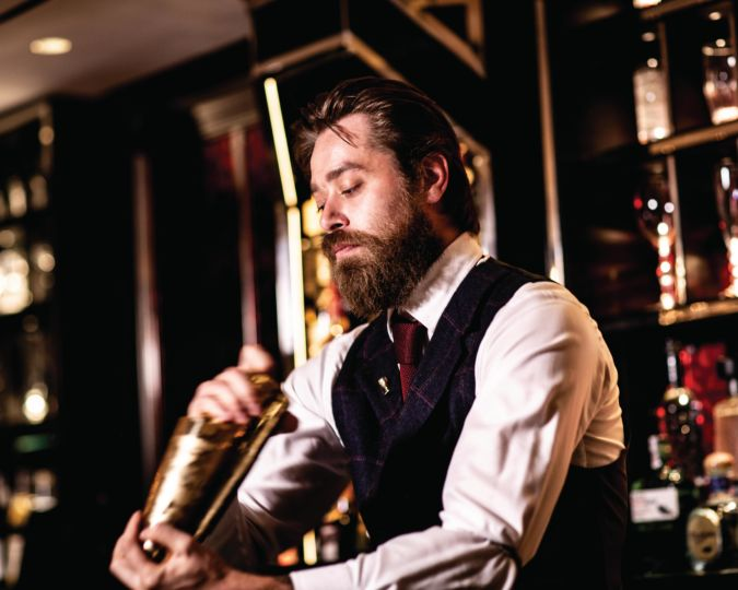Mixologist at the Baccarat Bar in Harrods