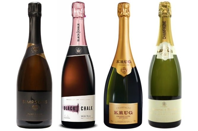 English sparkling wines and Champagne