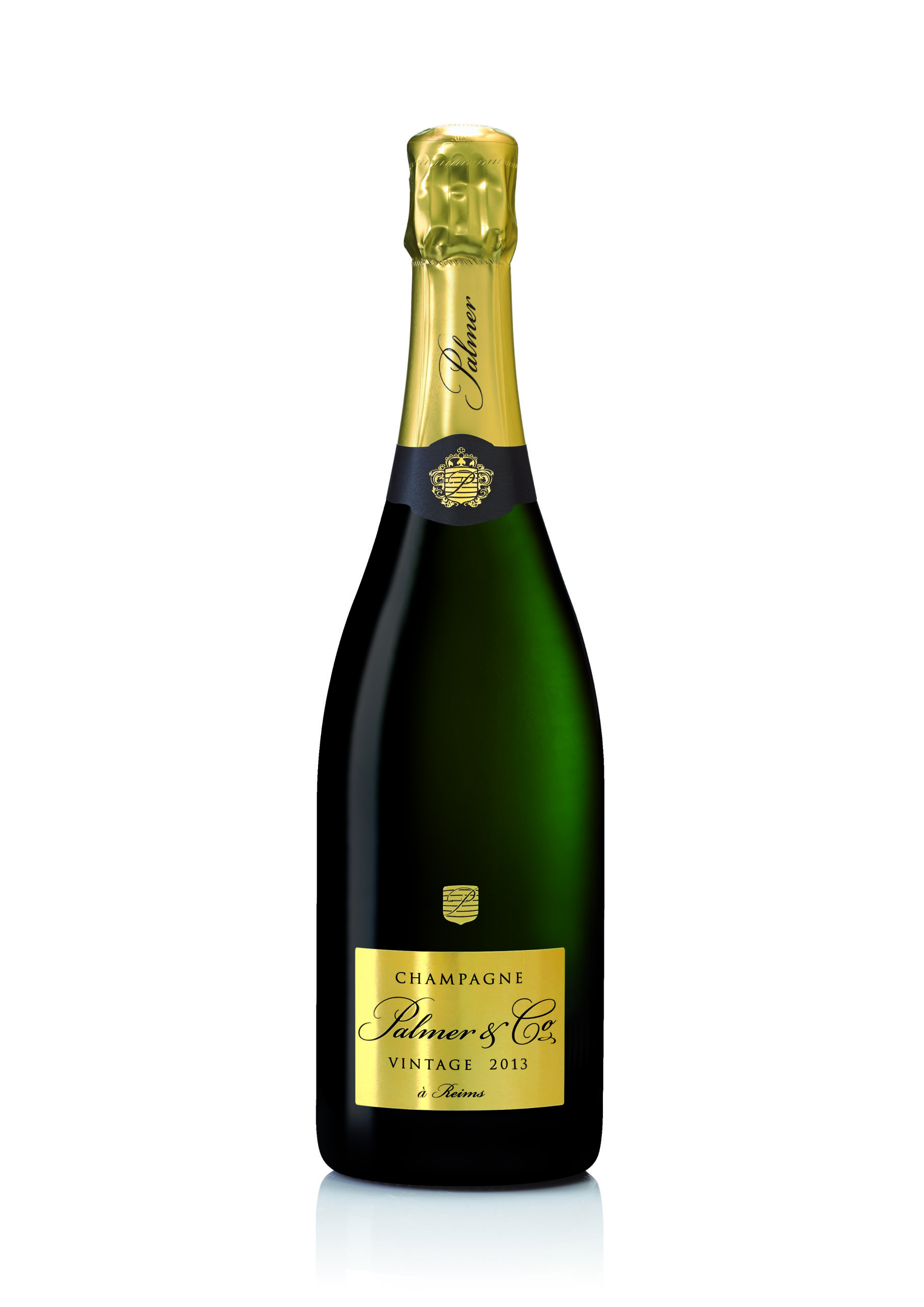 bottle of Champagne Palmer and Co Vintage 2013