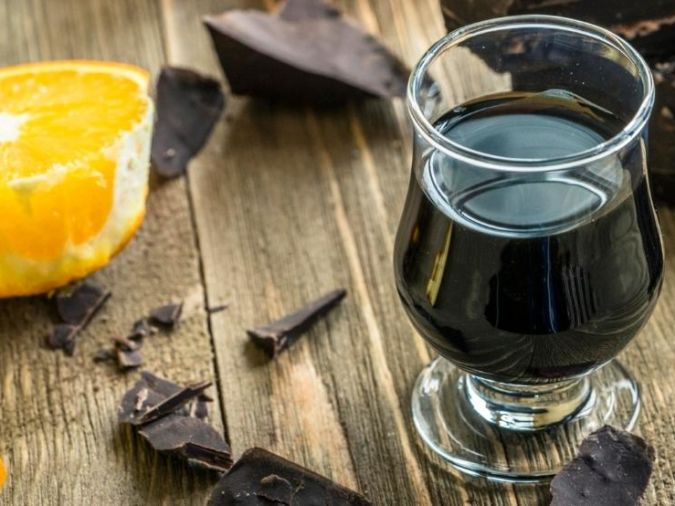 Glass of Dark Choc Liqueur