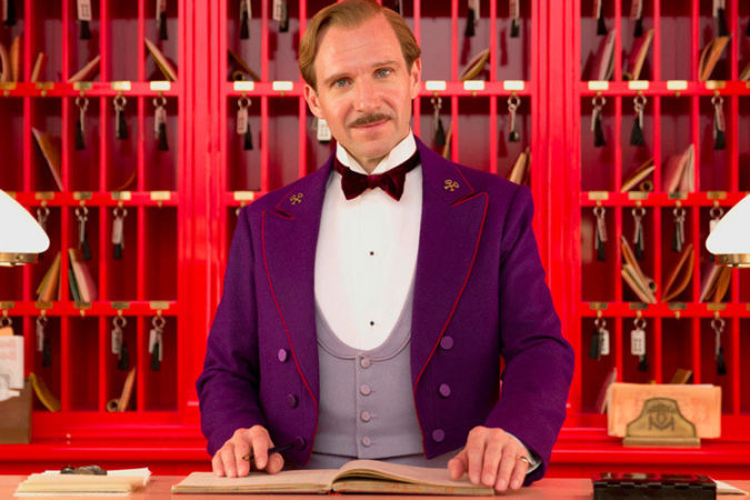 Monsieur Gustave H (played by Ralph Fiennes) in the film The Grand Budapest Hotel