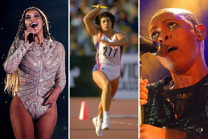 Beyonce, Fatima Whitbread and Skin from Skunk Anansie
