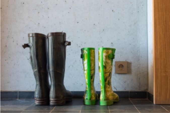 Jacques and Fiona's boots