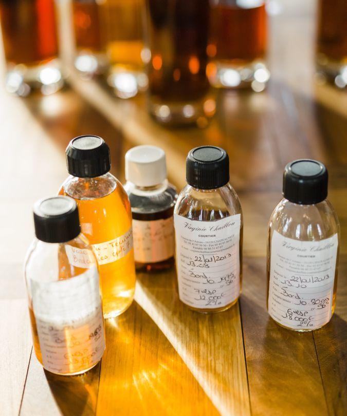 Cognac in bottles