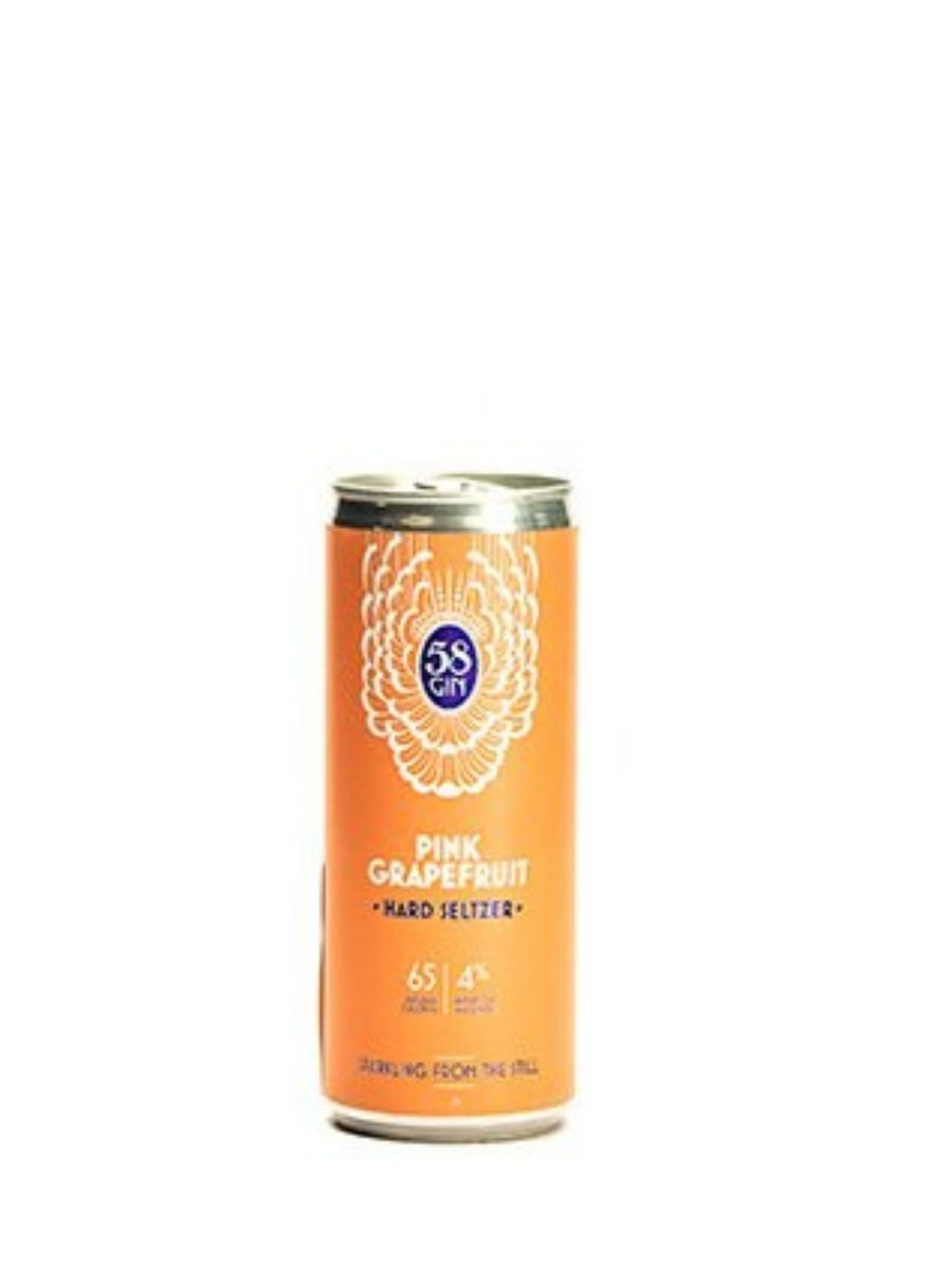 58 Gin Pink Grapefruit Hard Seltzer