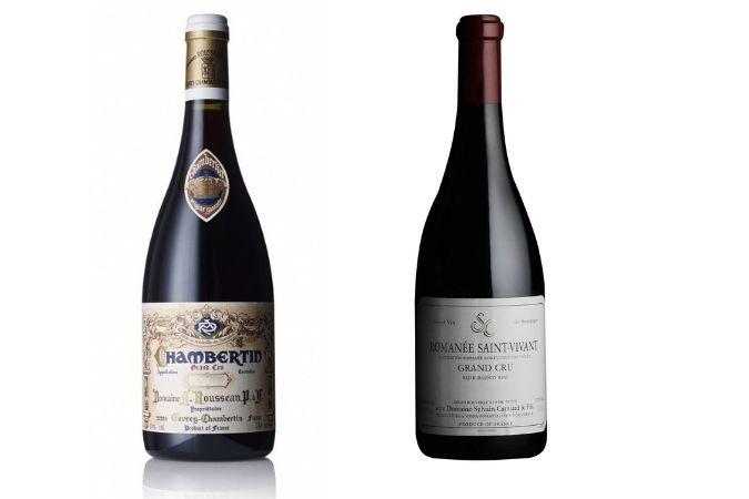 Grand Cru Red Burgundy bottles