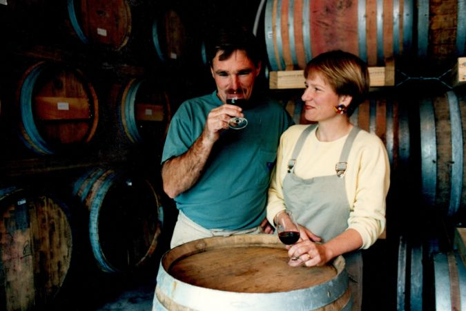 Clive & Phyll - In barrel room early 90's