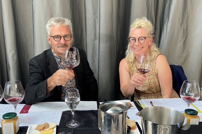 Ata Rangi founder Clive Paton and current winemaker Helen Masters