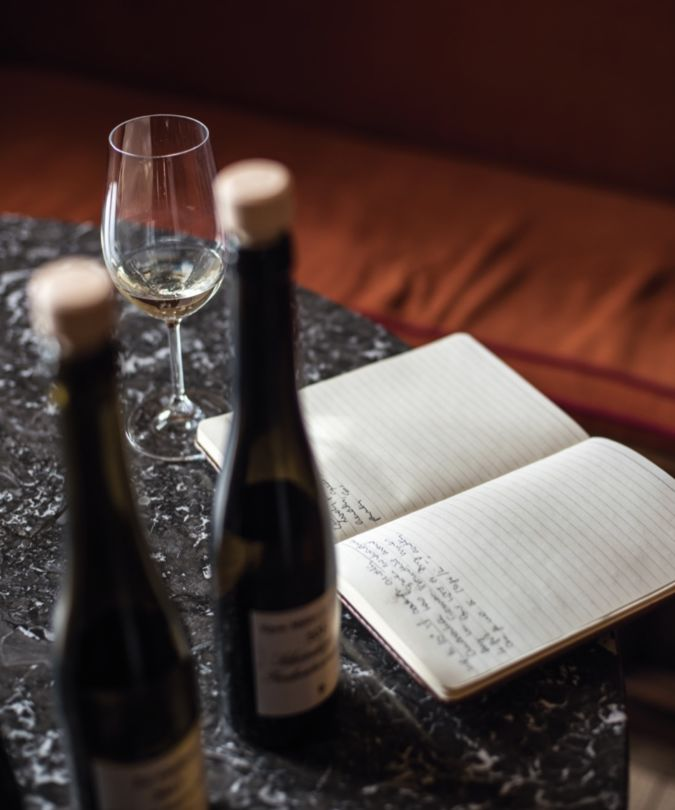 Wine and journal