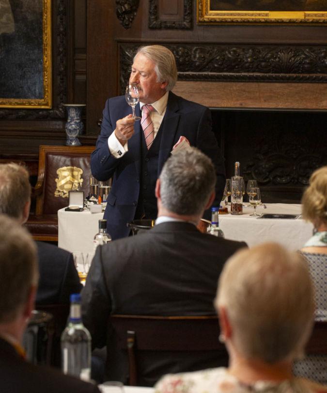 Richard Paterson leading a Scotch whisky masterclass at the IWSC Spirits Tasting 2019
