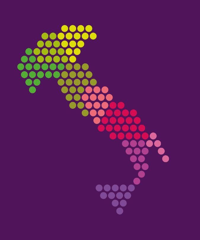 A map charting Italy's native grape varieties - Italian wine