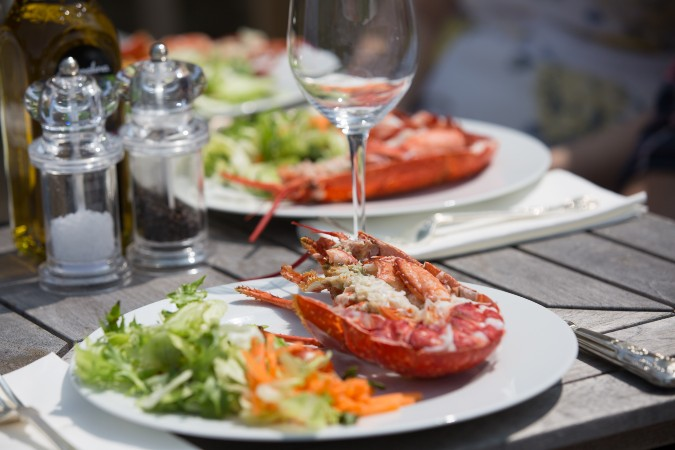 one-mile lobster lunch at Scilly Isles' Holy Vale