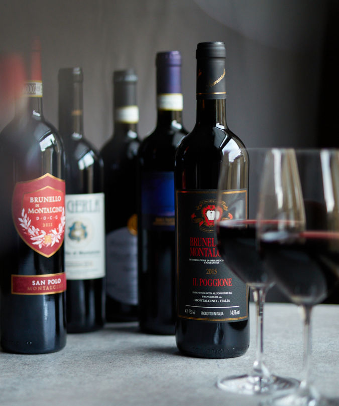 A selection of older Brunello di Montalcino vintages