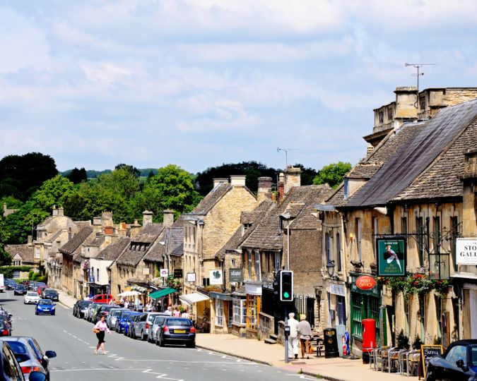 Burford high street in the Cotswolds