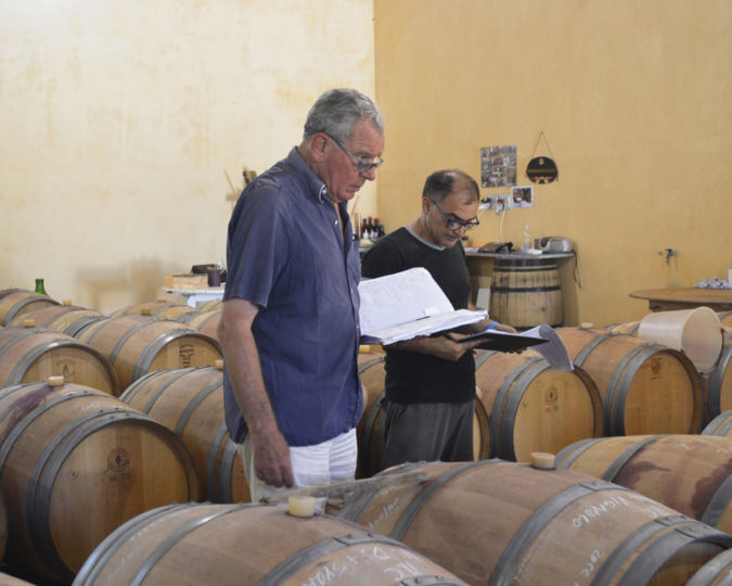 Peter Vinding-Diers with barrels