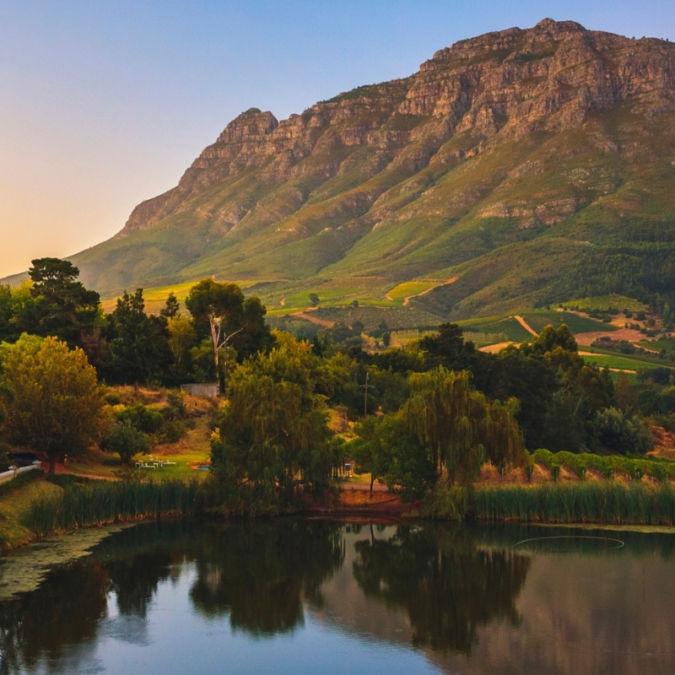 Simonsberg mountain near Stellenbosch