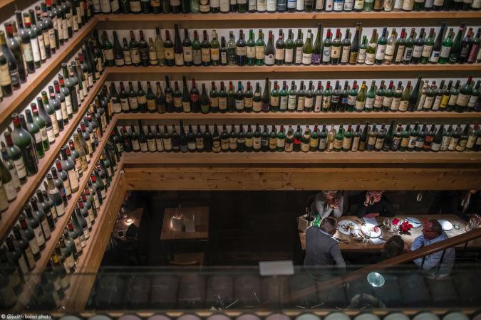 Judith Balari Wine bottles display