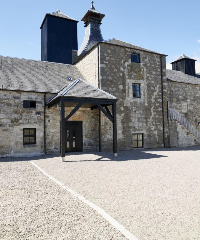 Brora distillery courtyard