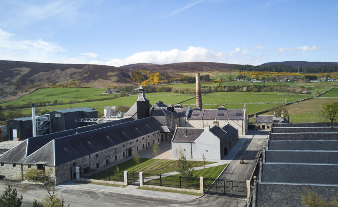 A view from above Brora distillery