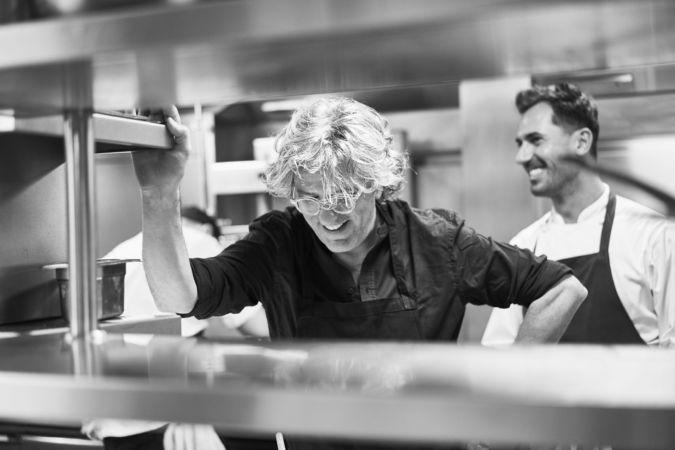 Giorgio Locatelli in the kitchen