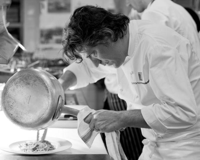 Chef Giorgio Locatelli cooking