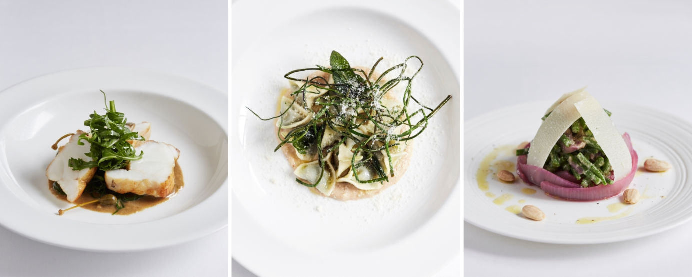 Dishes on the menu of Locanda Locatelli