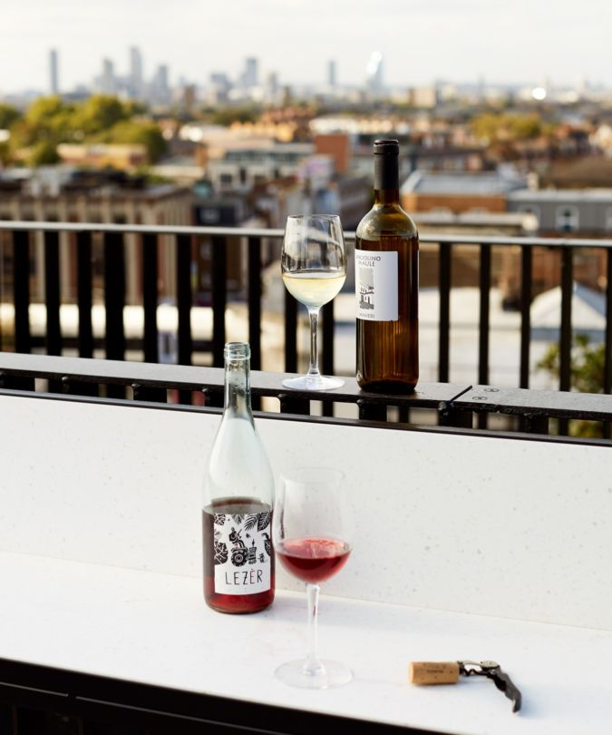 Rooftop view from Forza wine bar