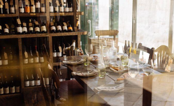 beckford bottle shop wine bar interior