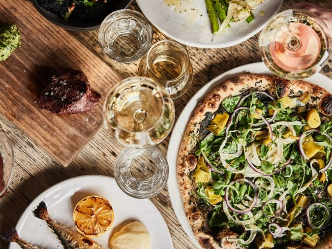 Food and drink at Wilding wine bar