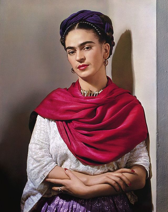 Mexican painter Frida Kahlo photographed by Nickolas Muray