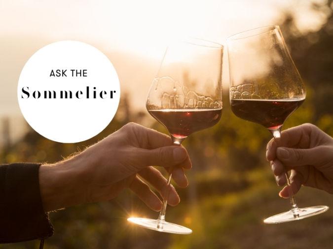 red wine in sunshine