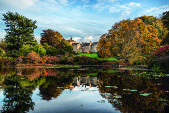 Glenapp Castle encapsulates the Scottish Baronial style in its architecture, while affording access to a range of local wildlife, both on land and sea