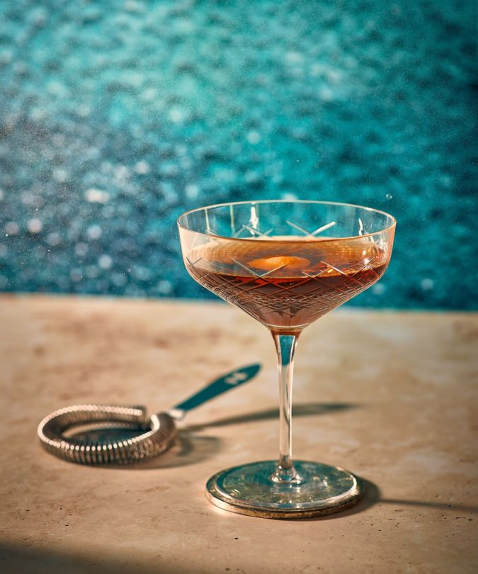 Bowmore cocktails at the Savoy's Solas terrace