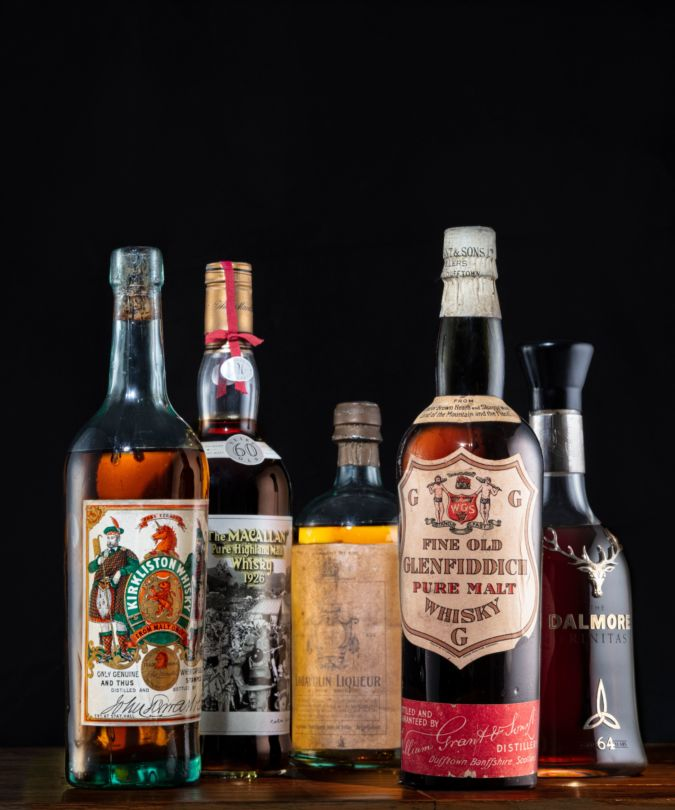 Five rare bottles from the world's best whisky collection