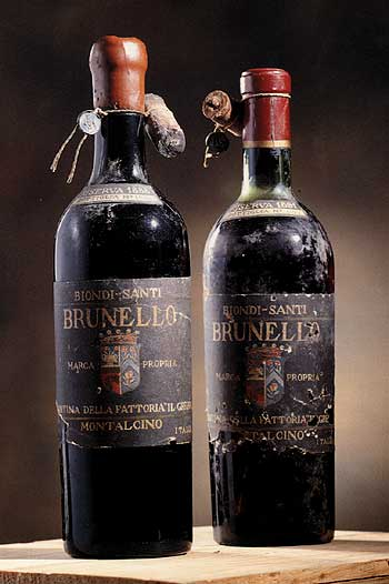 Biondi-Santi vintage bottles