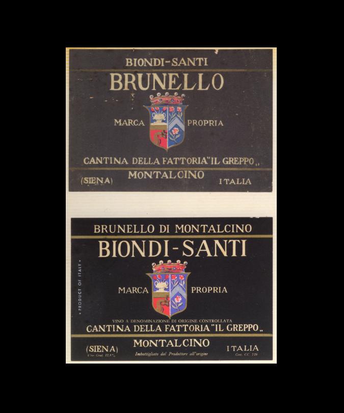 The Biondi-Santi label evolution