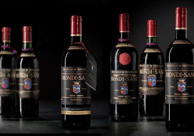 Biondi-Santi bottles