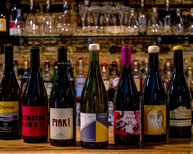 wine bottles at terroirs