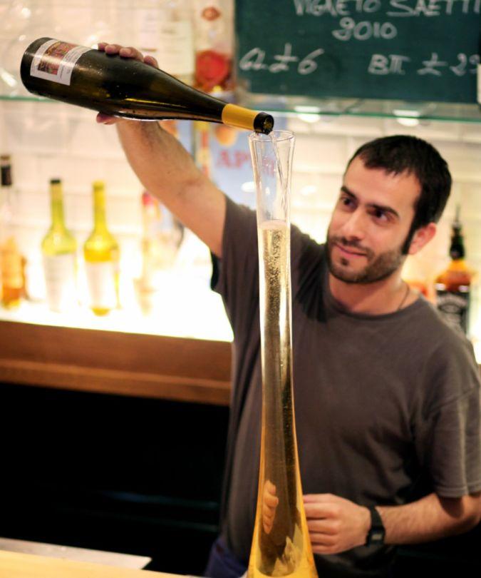 Long-necked decanter at Terroir