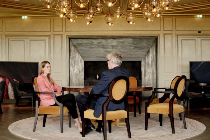 Frank Mannion & JenniferDelord at Royal Champagne Hotel